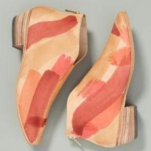 Anthropologie Lauren Brinkers Handpainted Boots